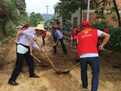 团县委联合陈汉乡组织青年志愿者开展6·18强降雨灾后救援慰问志愿服务活动